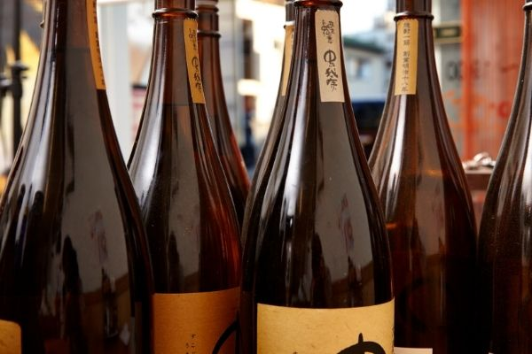 shochu bottles
