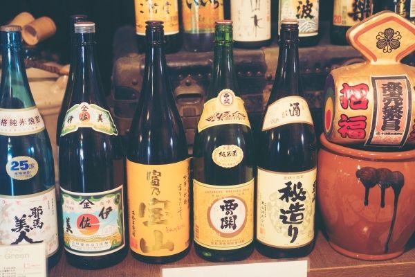 unopened sake bottles